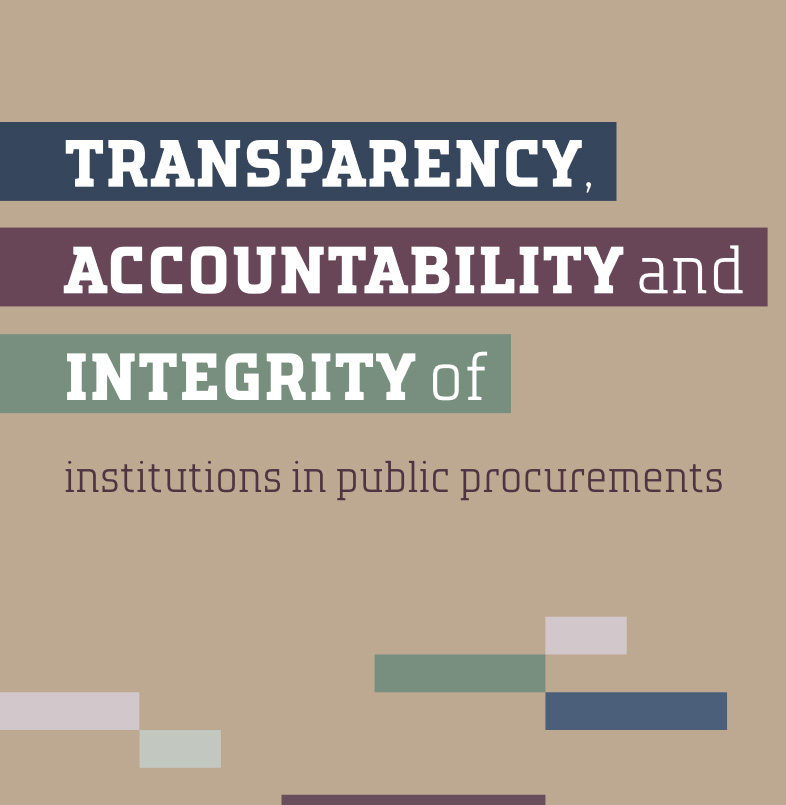 Transparency, accountability and integrity in public procurements. Research, rank list and analysis